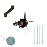 Barbecue and heater ( Gift set )Diffuser +Chimney Offset +Extensions Legs