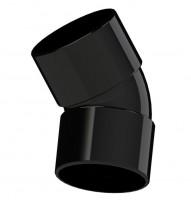 45 Degree bend double collar 36 mm (32mm / 1¼ internal)