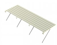 "Slatted staging 18"" x 8ft Ivory"