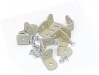 10 Ivory hanging basket brackets