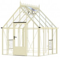 Robinsons Victorian Ratcliffe greenhouse in Ivory