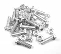 25 x 15mm nuts and bolt