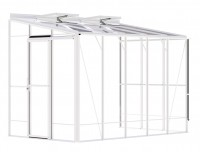 Lean-To 6ft5 x 10ft8 White Clearance Mixed Bar