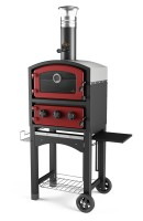 Wood fired oven and smoker red