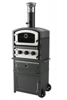 Alto freestanding wood fired oven and smoker white