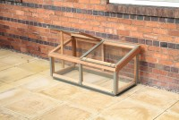 Cedar cold frame 4x2 with Aluminum capping