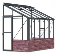 Lean-To 5ft4 x 10ft8 Anthracite **DWARF WALL**