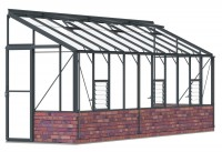 Lean-To 5ft4 x 20ft8 Anthracite **DWARF WALL**