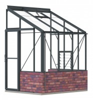 Lean-To 5ft4 x 6ft7 Anthracite **DWARF WALL**