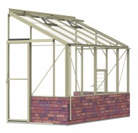 Lean-To 5ft4 x 10ft8 Ivory **DWARF WALL**