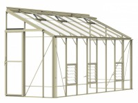 Lean-To 5ft4 x 16ft9 Ivory