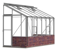 Lean-To 5ft4 x 12ft8 Mill **DWARF WALL**