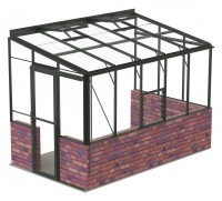 Lean-To 6ft5 x 10ft8 Anthracite **DWARF WALL**