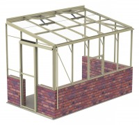 Lean-To 6ft5 x 10ft8 Ivory **DWARF WALL**