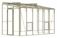 Lean-To 6ft5 x 12ft8 Ivory