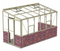 Lean-To 6ft5 x 12ft8 Ivory **DWARF WALL*