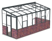 Lean-To 6ft5 x 12ft8 Anthracite **DWARF WALL*