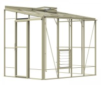 Lean-To 6ft5 x 8ft8 Ivory