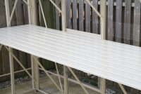 "25"" Slatted Staging 24ft long ivory"