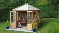 Mickleton 8x9 Plus Summerhouse (Cedar Slatted Roof)
