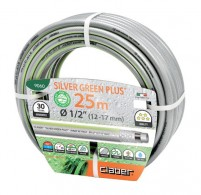 Silver Green Hose Pipe  25m Long  -9060
