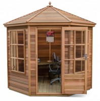 Tetbury 8x8 Plus Summerhouse (Cedar Slatted Roof) Ex Show Model