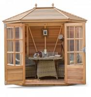 Chatsworth 6x8 plus Summerhouse (Cedar Slatted Roof)