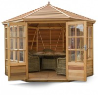 Broadwell 10x10 Plus Summerhouse (Cedar Slatted Roof)