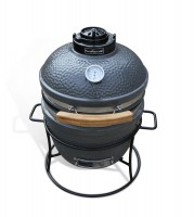 The Barnacle Kamado, from Wild Goose. A more portable, medium sized model, with 13