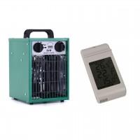 Heater Set  2kW Greenhouse fan heater + Digital max/min thermometer