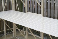 "Slatted Staging 25"" x 36ft Ivory"