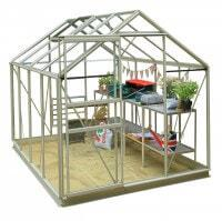 Classic 6ft x 8ft Pastel Sage Greenhouse Starter Package