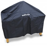 Cover for free standing Wld Goose Kamado on wooden table