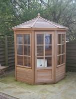 Shipton 6x6 Summerhouse Plus (Cedar Slatted Roof)