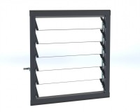 6 Slat Louvre Anthracite