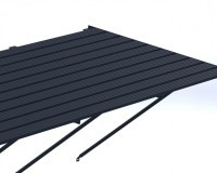 "Slatted Staging 35"" x 16ft Anthracite"