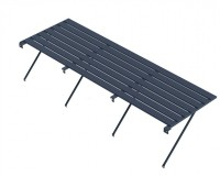 "Slatted Staging 25"" x 10ft Anthracite"
