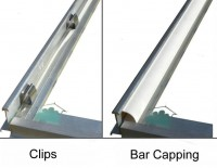 Bar Capping set (White) for Stableford 6ft