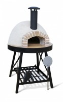 Brick surround wood fired pizza oven