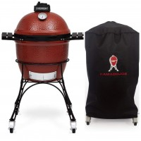 "Bundle Starter Set Classic Joe Grill, 18"", Red +  Classic Joe grill cover"