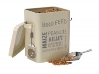 Bird feed tin in cream