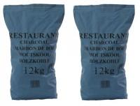 2x Restaurant Lumpwood Charcoal 12 KG