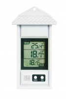 Greenhouse Thermometer with max/min function White