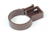 "Downpipe bracket for 2"" (50mm) Brown downpipe"