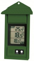 Greenhouse Thermometer with max/min function Green -Pack of 10