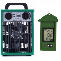 Heater Set  2kW Greenhouse fan heater + Digital max/min thermometer
