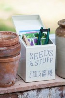 Jersey Cream Enamel Seed & Stuff Tin