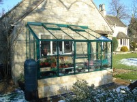 Lean-To 5ft4 x 8ft8 Green **DWARF WALL**