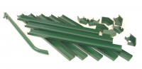 Omega guttering and downpipe kit (green)