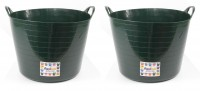 Pack of 2 - Flexi tub 26 Litre green